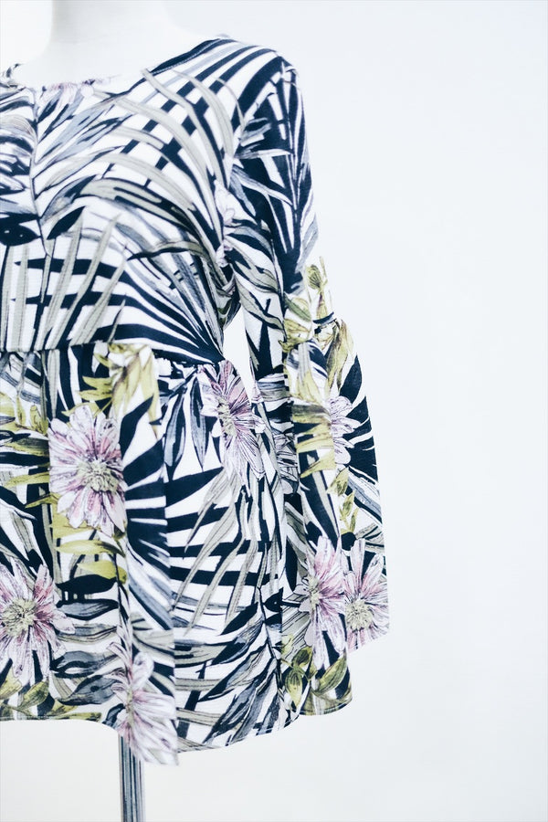 BabyDoll Dress - Palm Tree