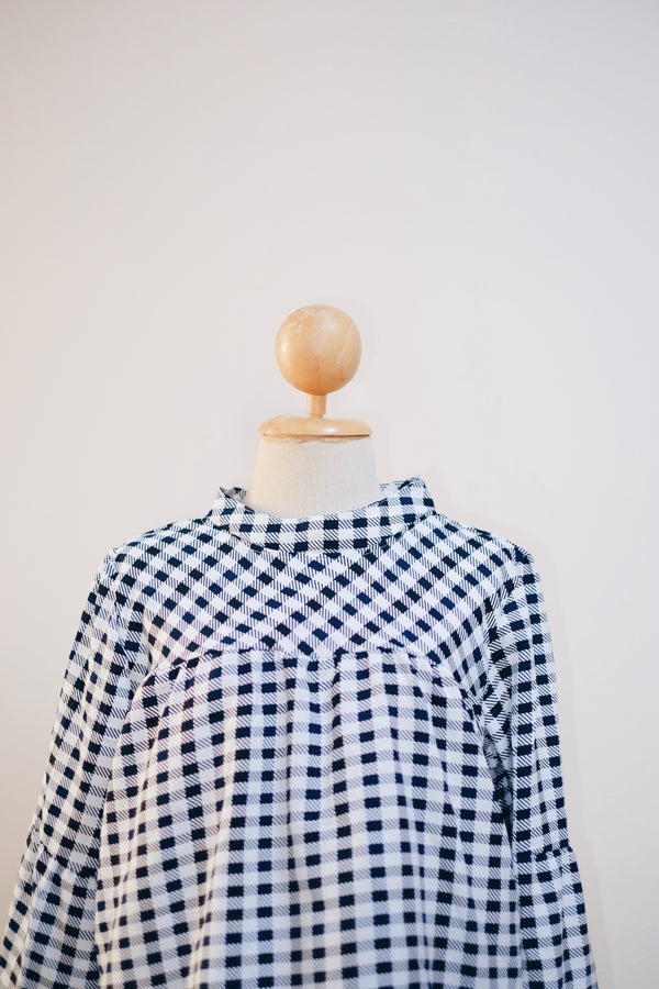 Printed Doll Top - Checkered