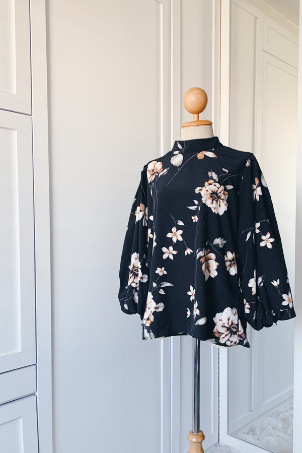Balloon Sleeve Blouse - Orchid