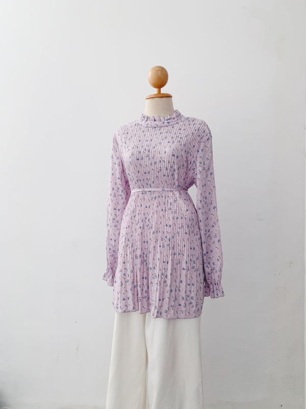 Pleated Top - Lavender