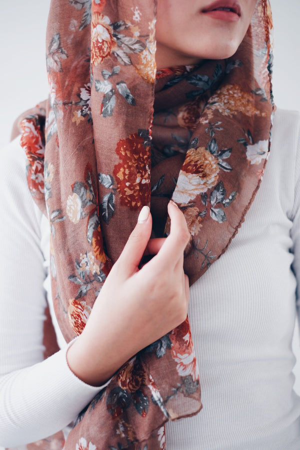 Printed Viscose Shawl - ButterSweet