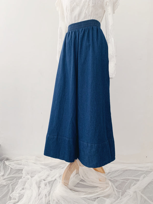 Denim Wide Leg Pants