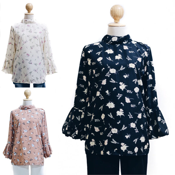 Printed Doll Top - Taila ( Mermaid Sleeve )