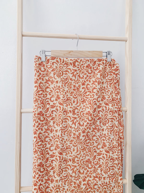 Batik Pario Skirt - Orange Dip