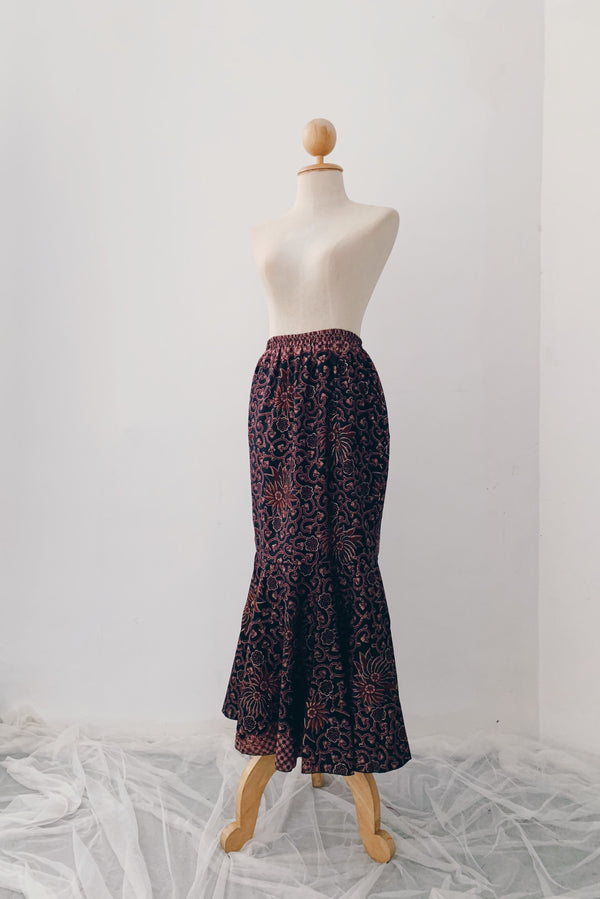 Mermaid Batik Skirt - Rich