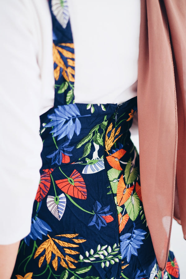 Tropical Suspender Pants
