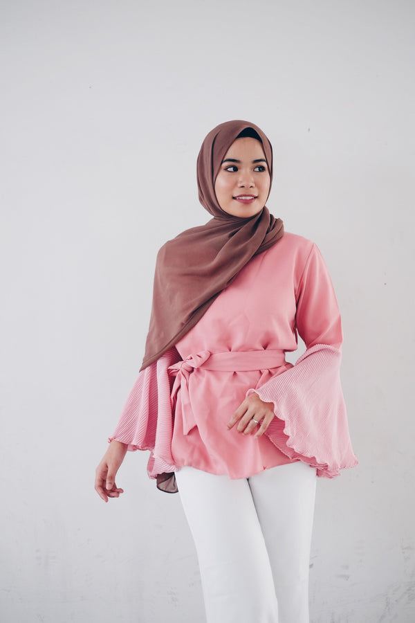 Pleated Flared Ella Top