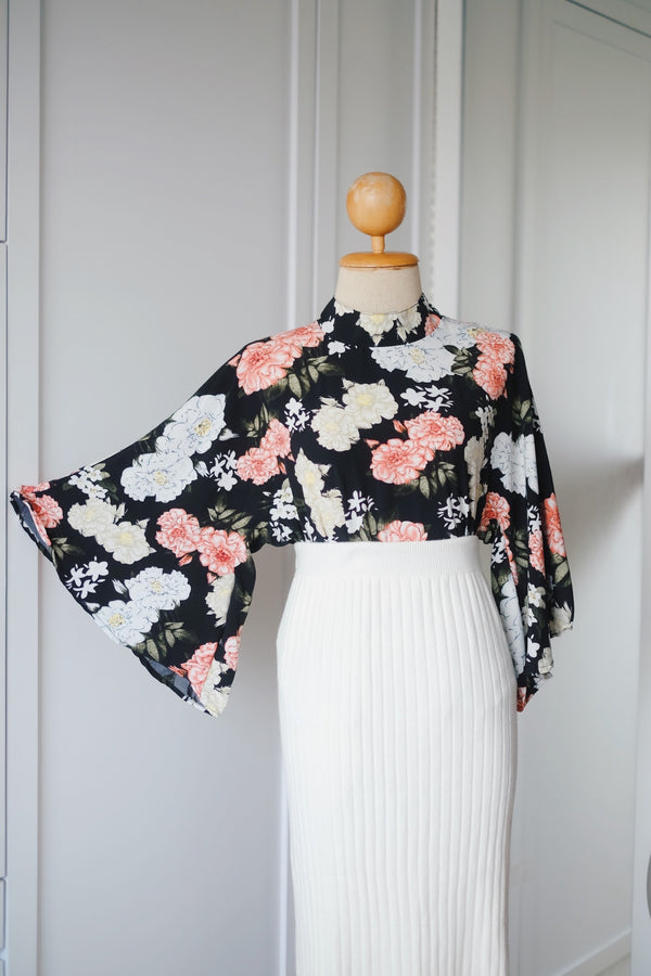 Printed Fairy Top - Paris Flora