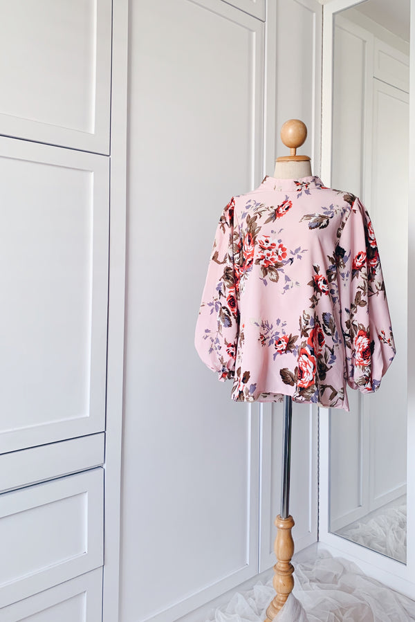 Balloon Sleeve Blouse - Rosapo