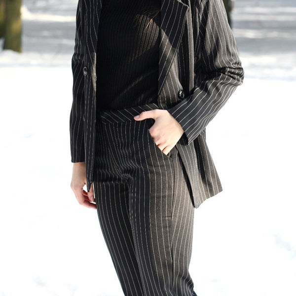 Striped Pant Suit