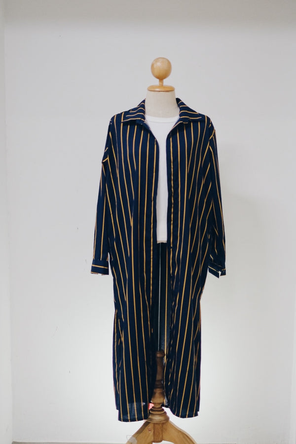 Long Shirt Blouse - Stripe