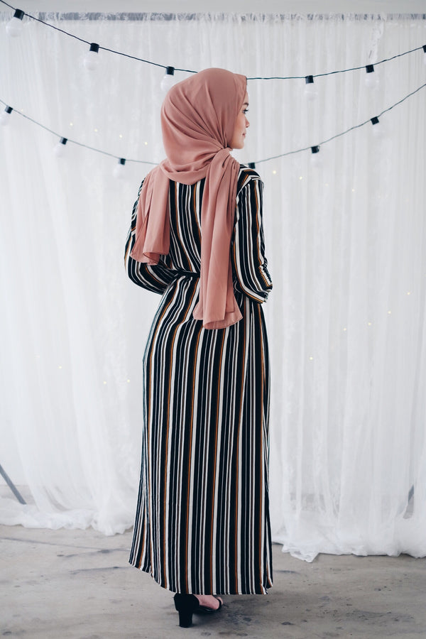 Pull and Striped Split Dress