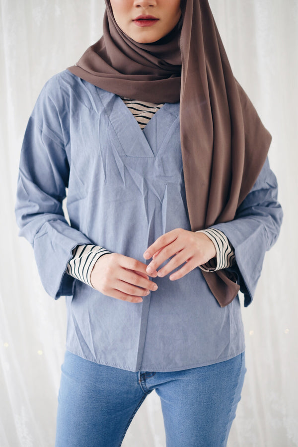 Double Wear Blouse - Stripe