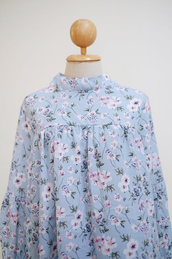 Printed Doll Top - Lavender