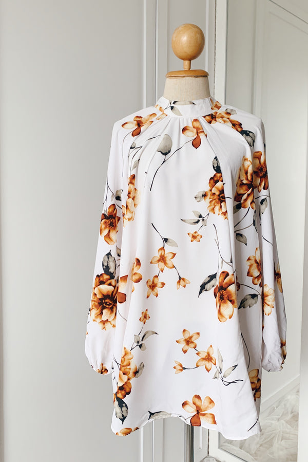 Printed Long Top - Orchid