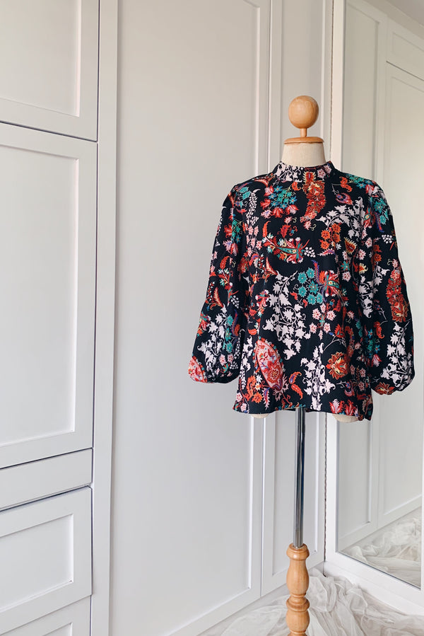 Balloon Sleeve Blouse - Paisley