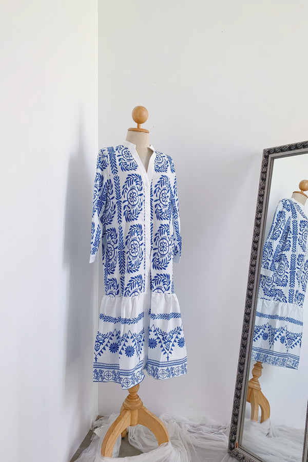 Porcelain Midi Dress