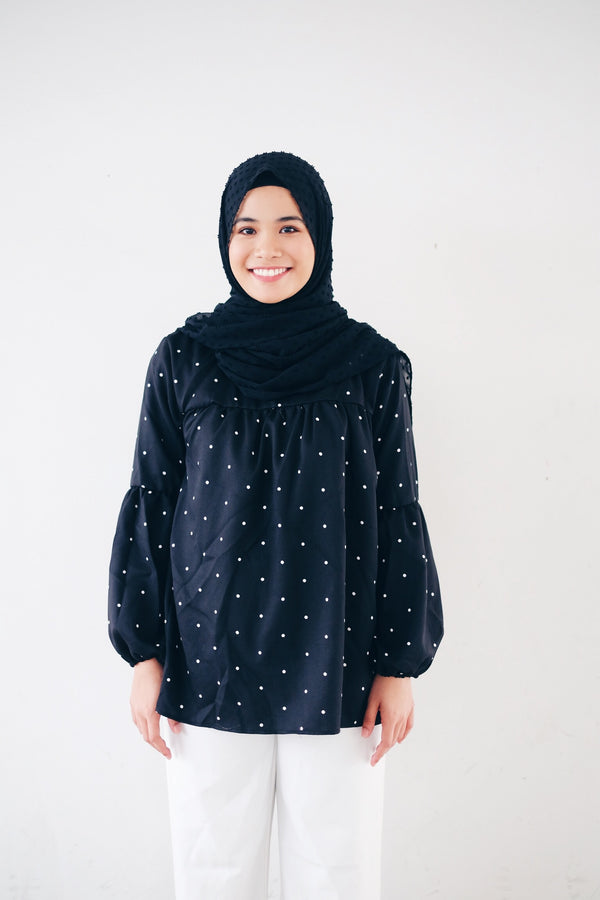 Printed Doll Top - Polka Dot