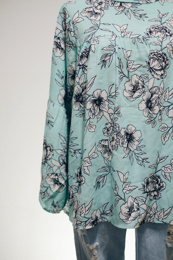 Printed Doll Top - Floral Cane
