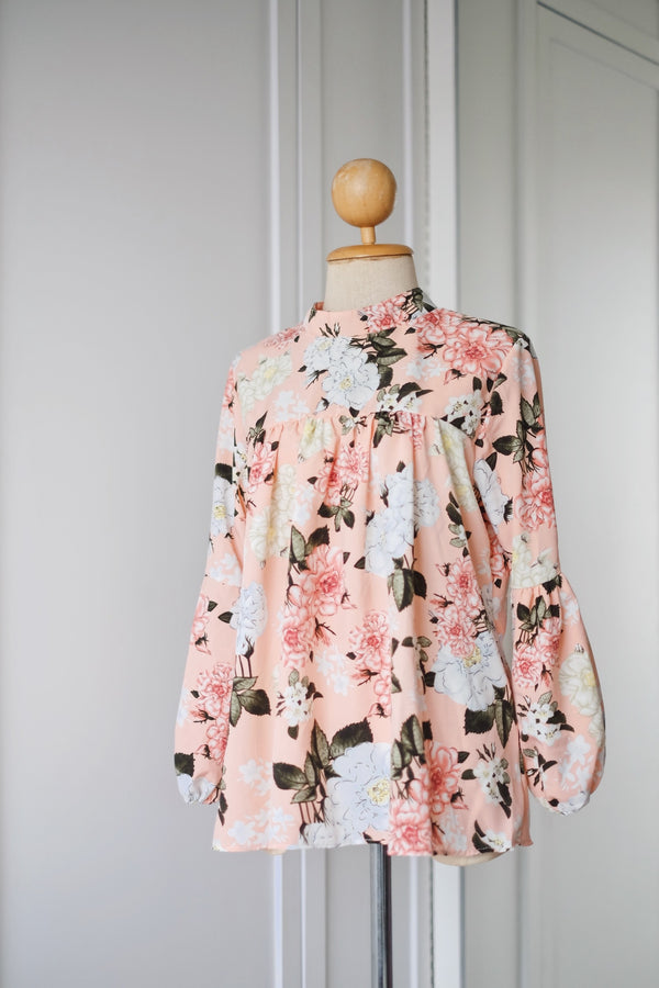 Printed Doll Top - Paris Flora