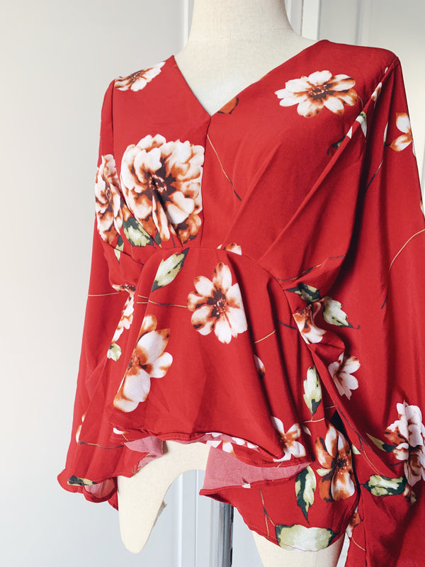Kimono Batwing Top - Orchid