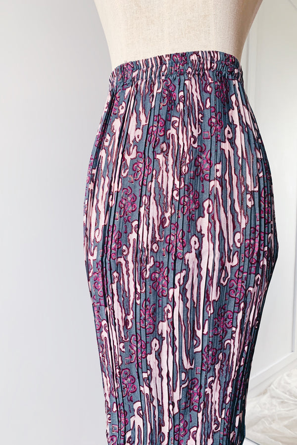 Pleated Skirt - Purple