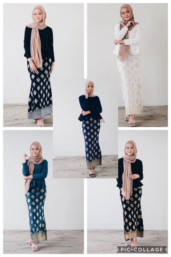 Kurung Set - Zuwainah (Plain Top)