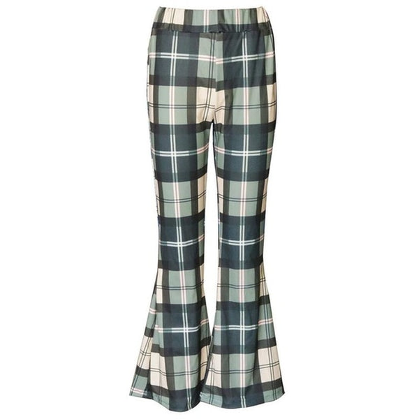 Retro Plaid Bell Bottom