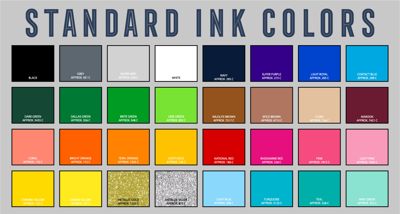 Standard Ink Color Swatch