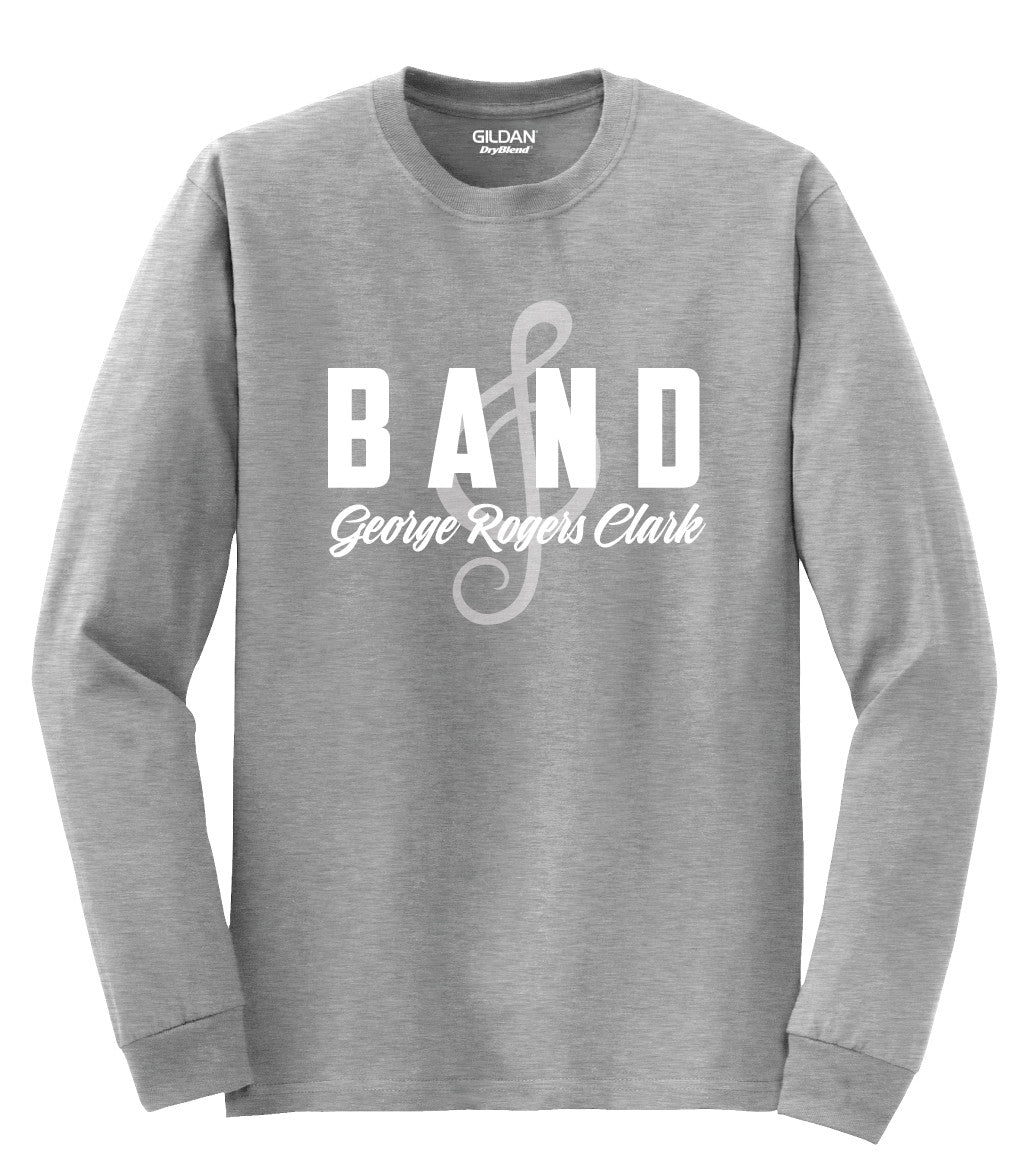 Clark County Band Boosters Treble Clef Design Dryblend Long Sleeve