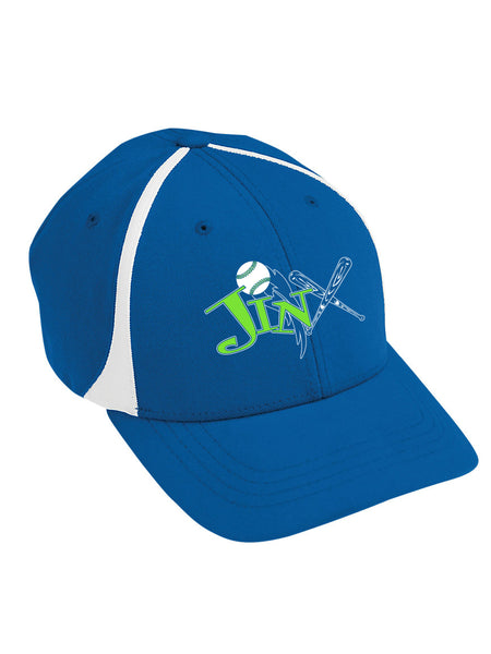 764be6462b3 Jinx 07 Softball-Augusta Flexfit Zone Cap-Royal White - Surge Promotions