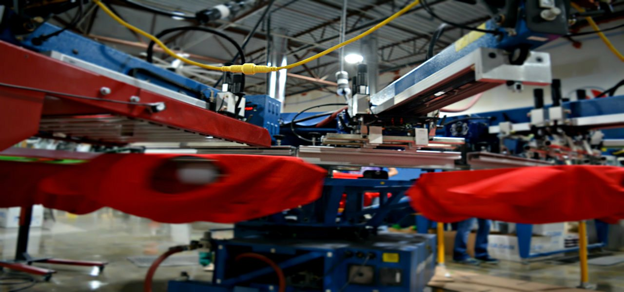 surge screen printing tour our facility