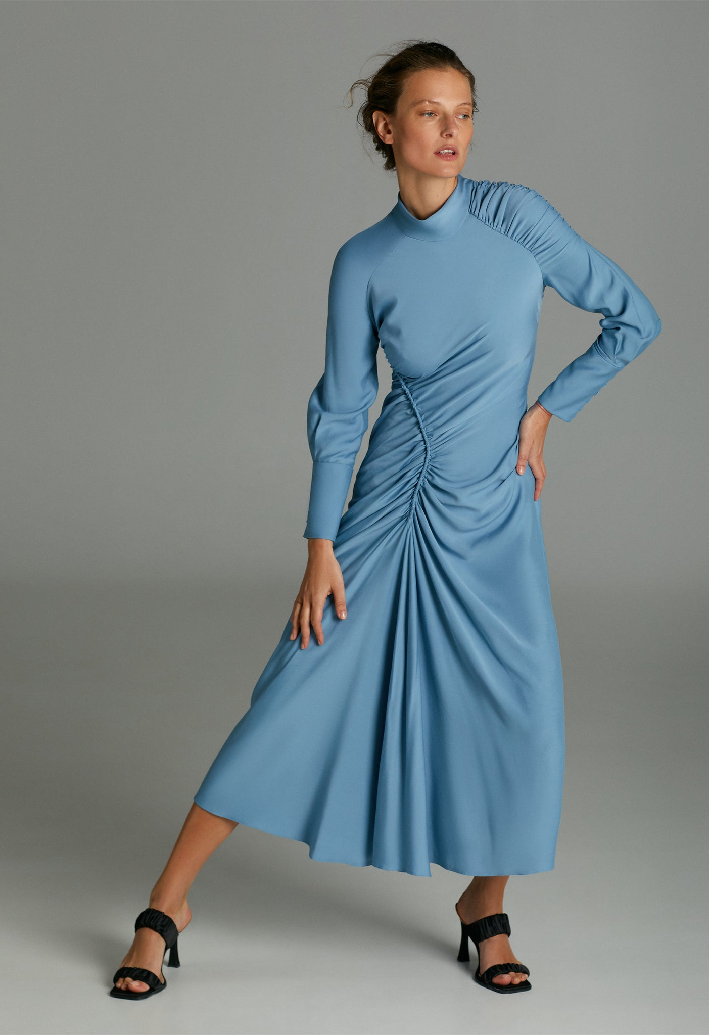 Model in Harriette dress