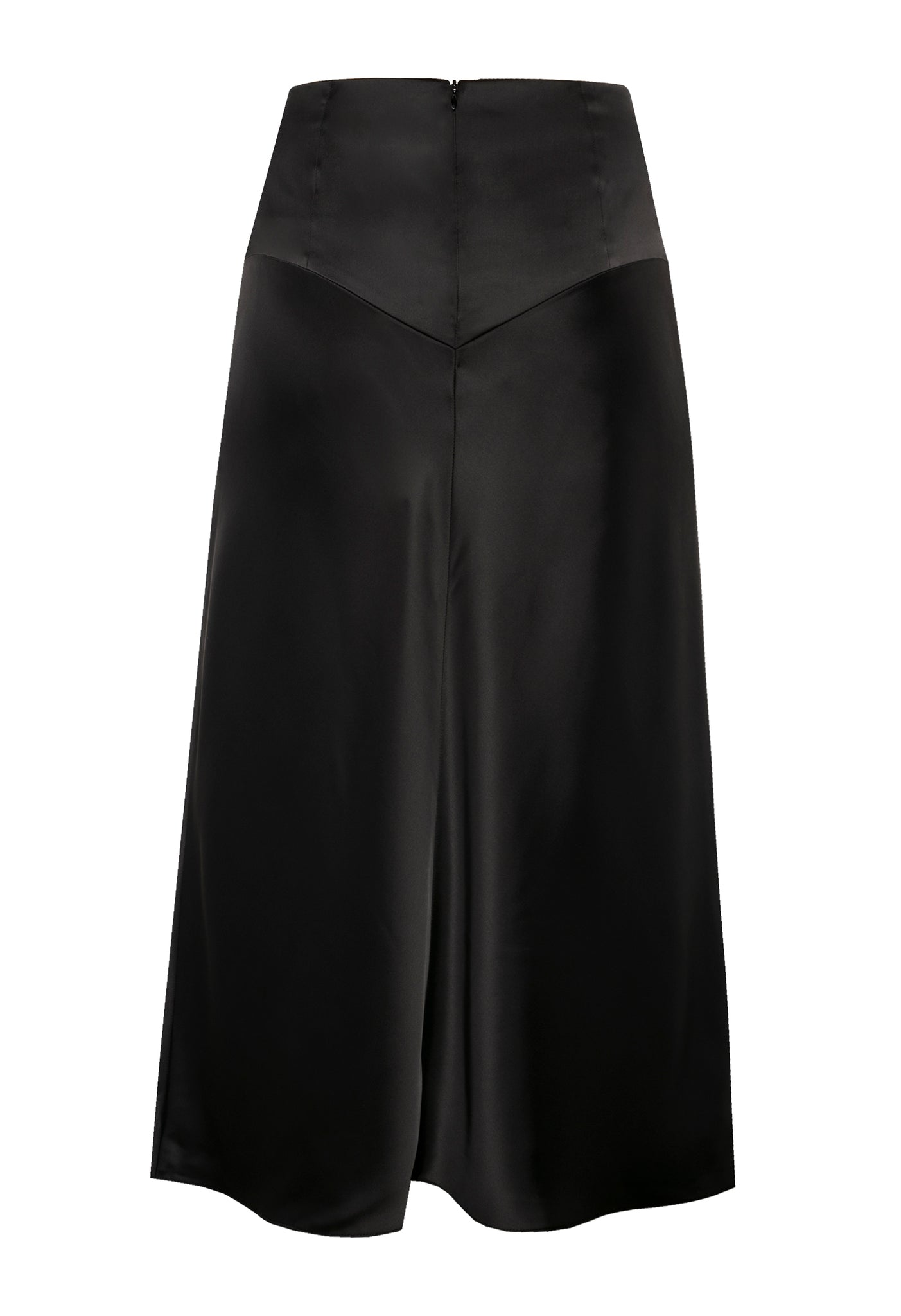 'Black coffee' skirt, back view.