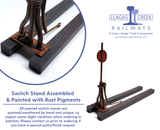 1:20.3 Scale Switch Stand Kit (3ft Narrow Gauge)