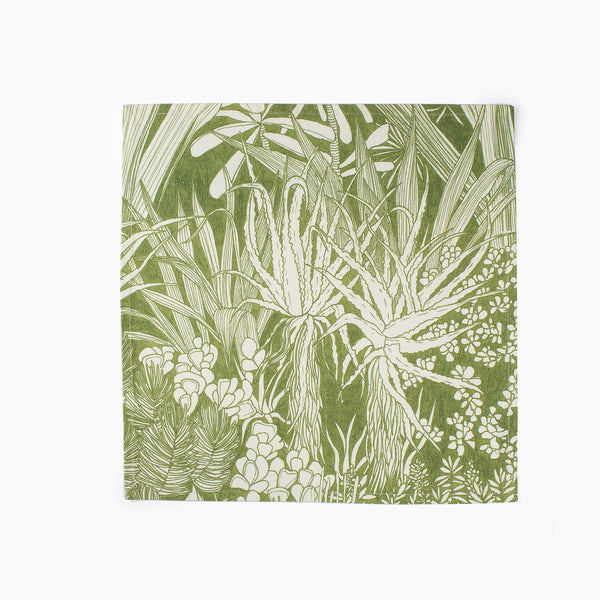 Wanderland Aureum Set of 2 Urban Forest Green Napkins