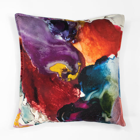 Wanderland Anastasia Pather Pansy Pearl Velvet Scatter Cushion