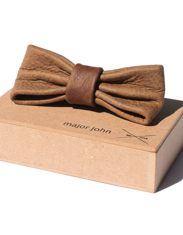 Major John Brown Genuine Leather Bow Ties
