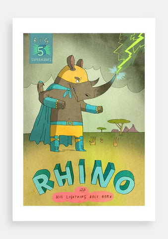 Patrick Latimer Big Five Superheroes, Rhino