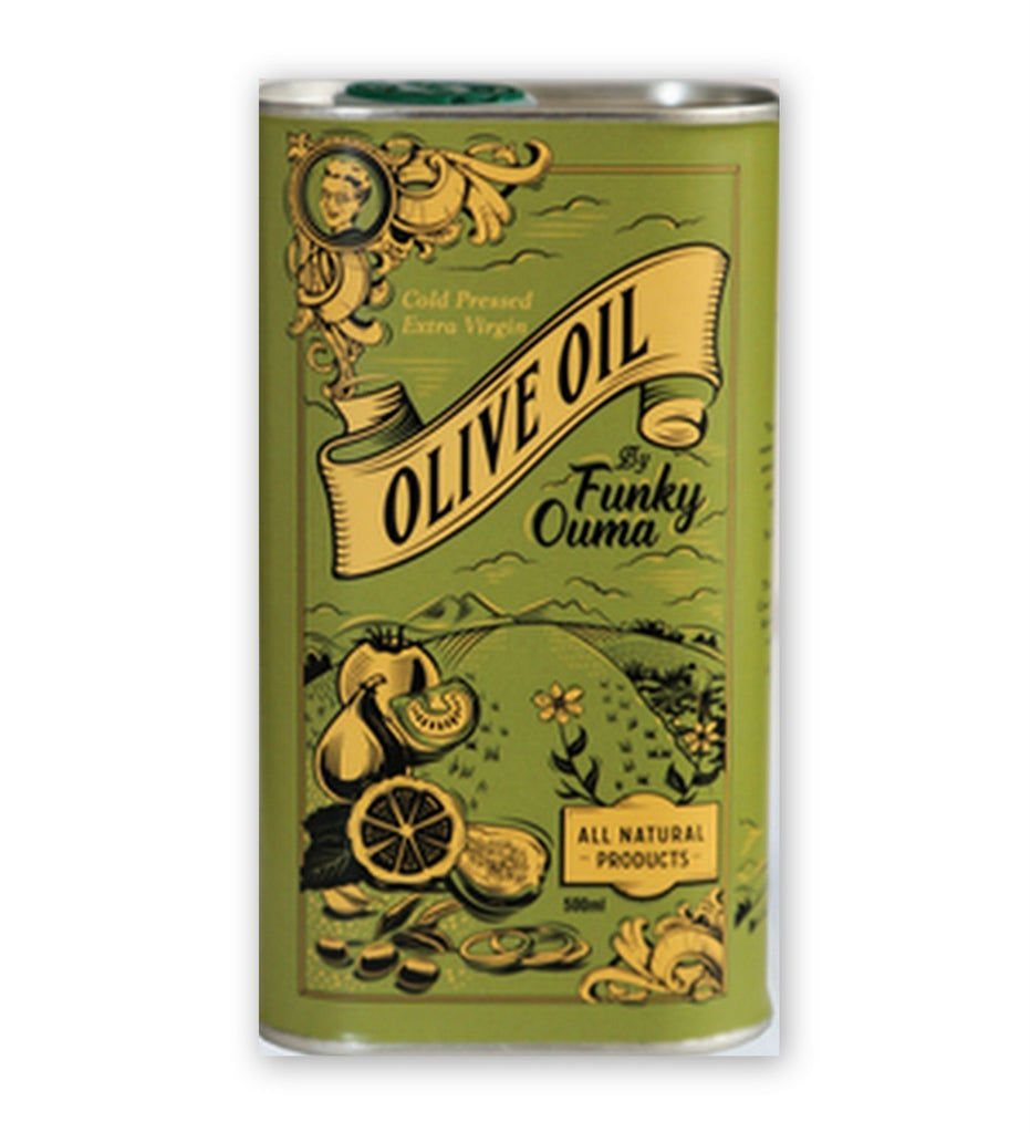 Funky Ouma Olive Oil 500ml in a tin