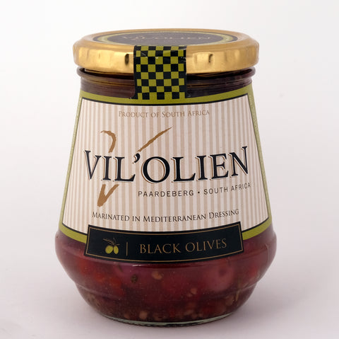 Vil'Olien Black Olives 380g
