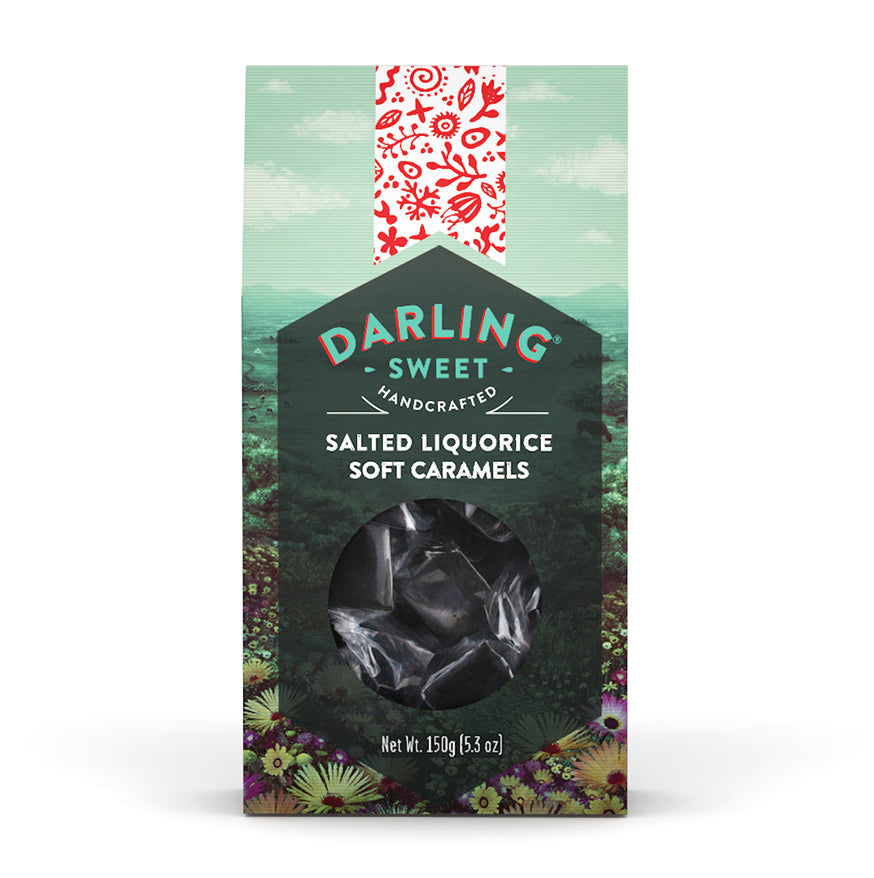 Darling Sweets 150g Salted Liquorice Soft Caramels