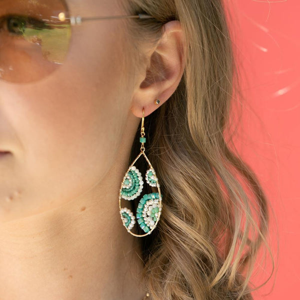 Shelley Taylor Crescent in Shades of Seafoam Earrings