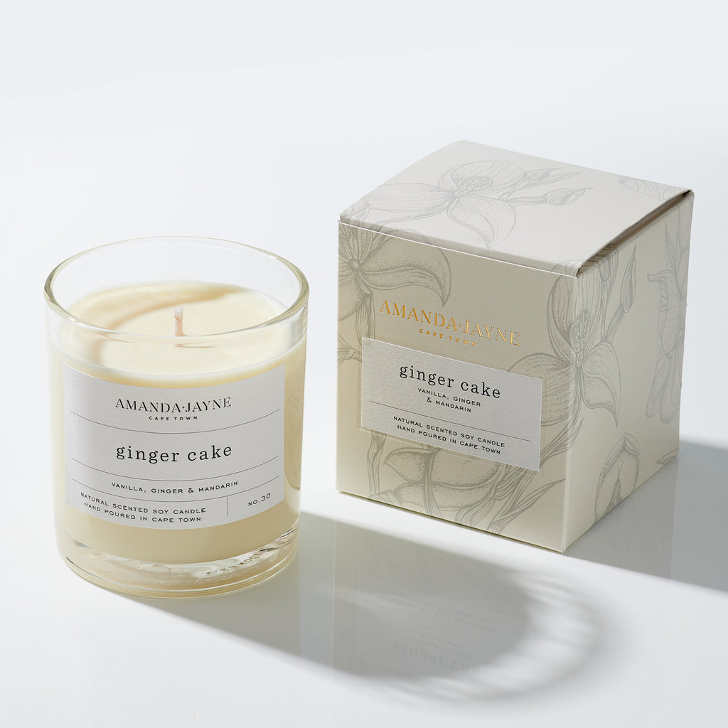 Amanda Jayne Ginger Cake Glass Candle