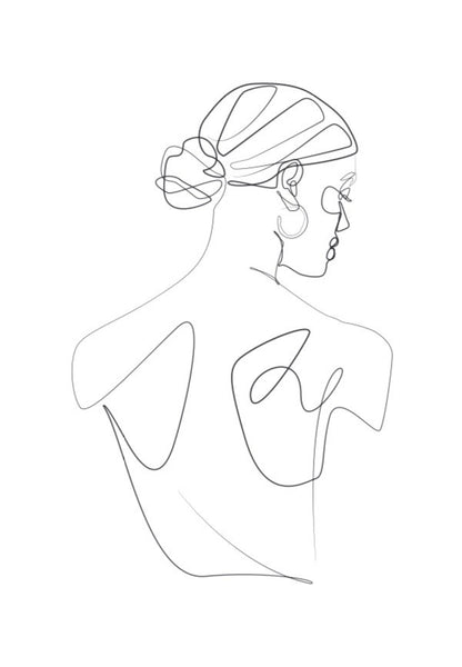 Mono Line drawing - Women 2