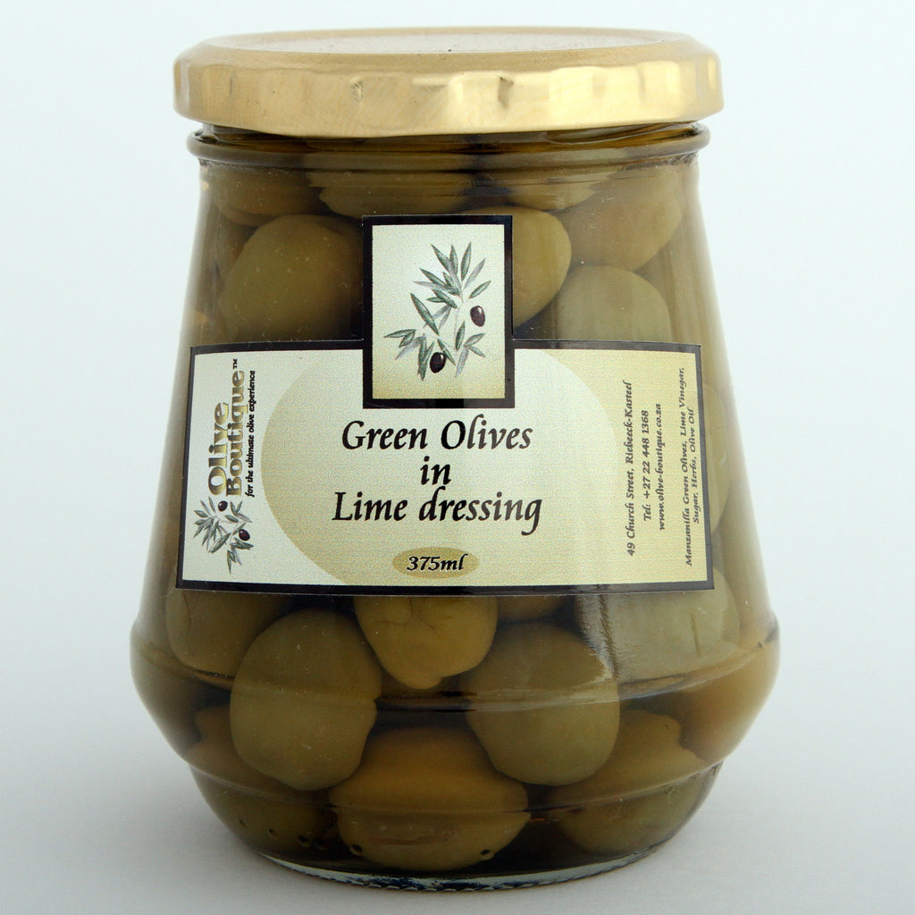 Olive Boutique Green Olives in Lime Dressing