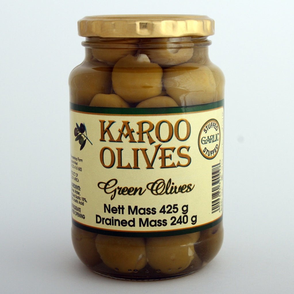 Karoo Green Garlic Stuffed Olives