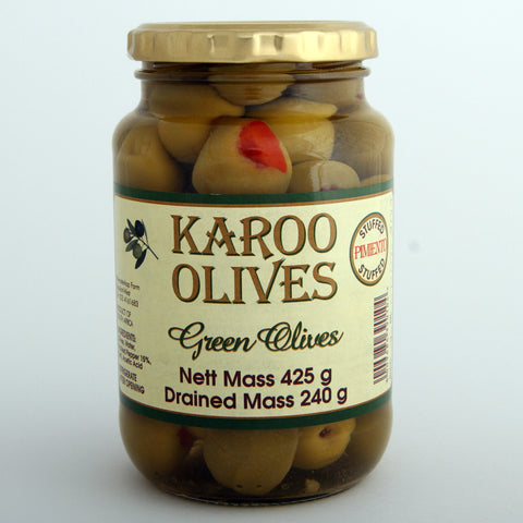 Karoo Green Pimiento Stuffed Olives