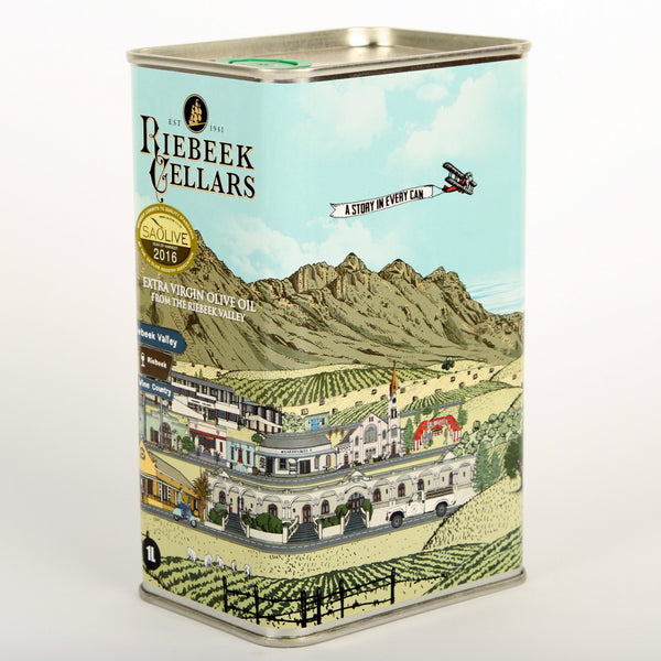 Riebeek Cellars Extra Virgin Olive Oil 1l in a tin