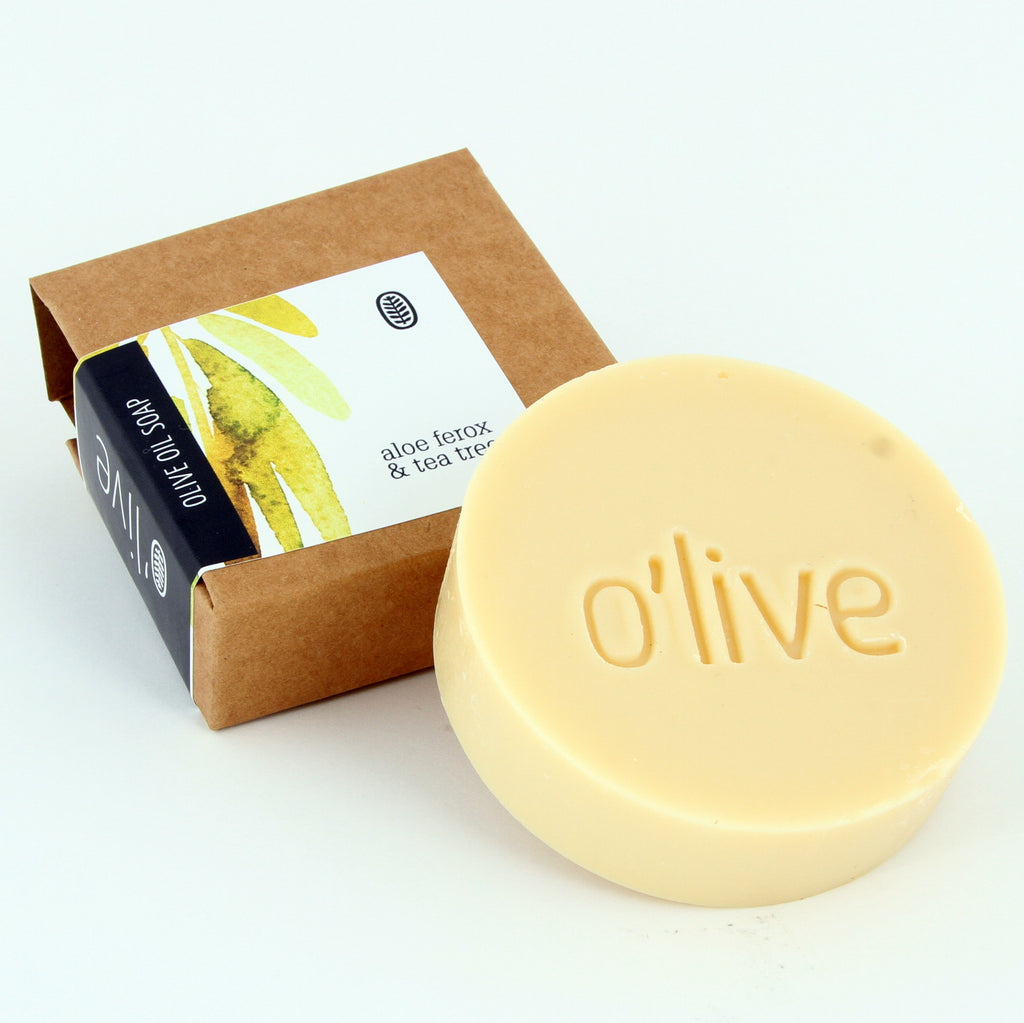 O'live Aloe Ferox and Tea Tree olive oil soap